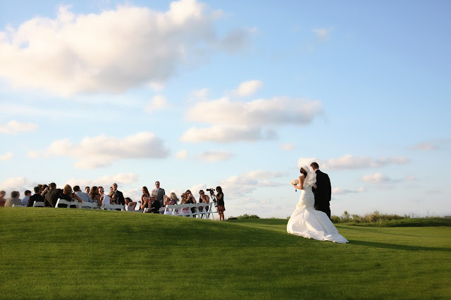 south seas resort wedding on sunset cove lawn