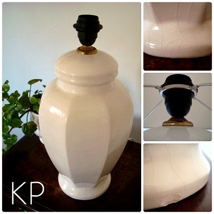Lámparas de cerámica para el salón. Iluminar un rincón. Ideas y soluciones. Iluminación vintage.