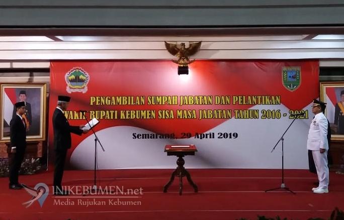 Arif Sugiyanto Resmi Jabat Wakil Bupati Kebumen