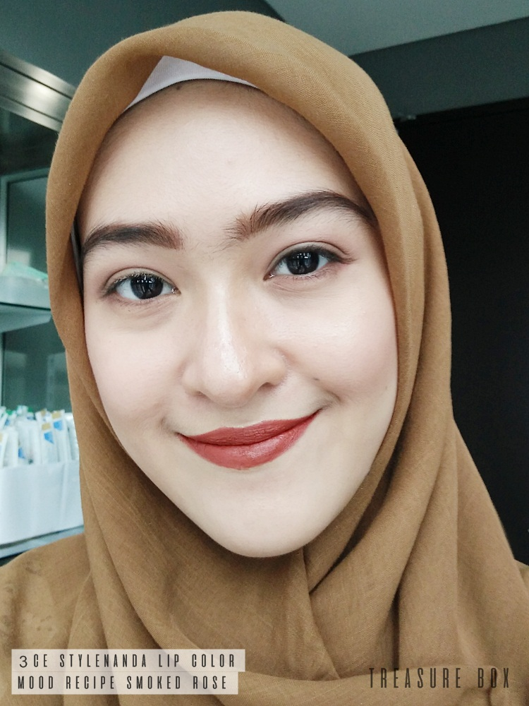 Review 3ce Mood Recipe Matte Lip Color 909 Smoked Rose Lensa