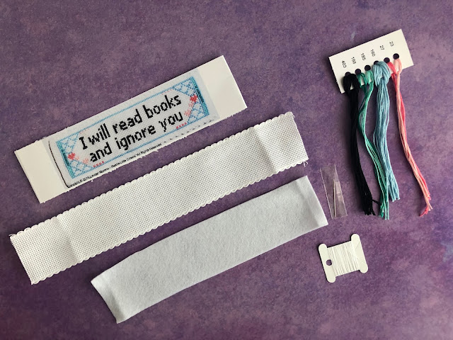 cross stitch book mark plastic little covers