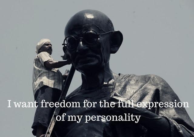 Mahatma Gandhi ON TRUE FREEDOM