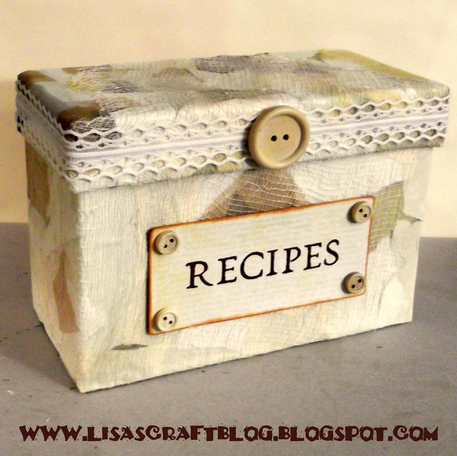 Decorative Recipe Box 2: Guest Post: Recipe Box Re-Make By Lisa's Craft Blog