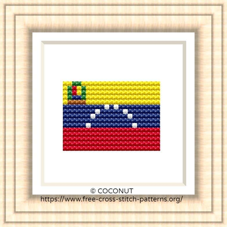 NATIONAL FLAG OF VENEZUELA CROSS STITCH CHART