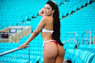 Fernanda Souza a Gata do Esporte Clube Bahia no Belas da Torcida 2014
