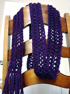 Skinny Lace Scarf 3 - Purl Avenue