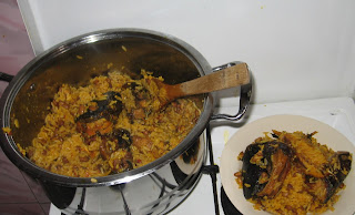 palm oil jollof rice and beans