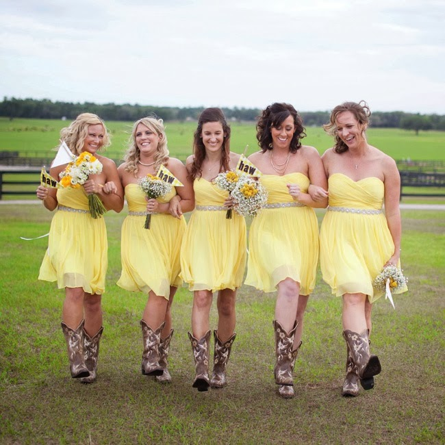 d7a1fb8e0d95 For the country girl, Cowboy Boots can look so cute in a wedding! Here are  some photos for inspiration for a country wedding.