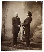 Marsh con el jefe indio Nube Roja