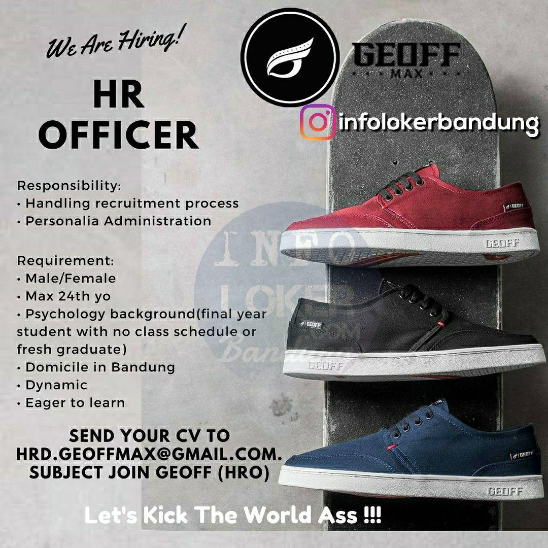 Lowongan Kerja HR Officer Geoff Max Footwear November 2017