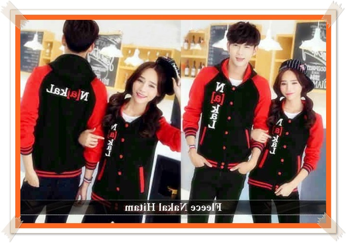 jaket couple bahan fleece
