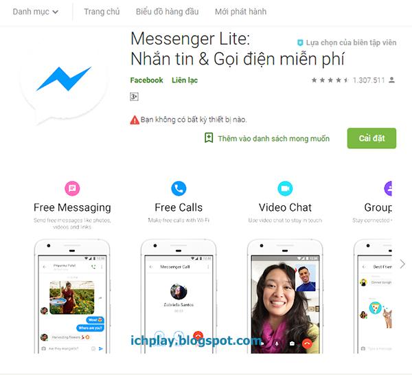 Tải Messenger Lite cho máy Android, IOS (iPhone, iPad )