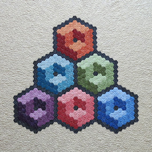 How to Sew Hexagon Cubes Quilts by Geta Grama of Getas Quilting Studio