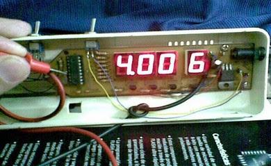 frecuencímetro en prueba de 4MHZ