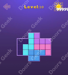 Cheats, Solutions, Walkthrough for Move Blocks Easy Level 10