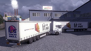 Taco Bell Trailer for ETS2 version 1.4.8