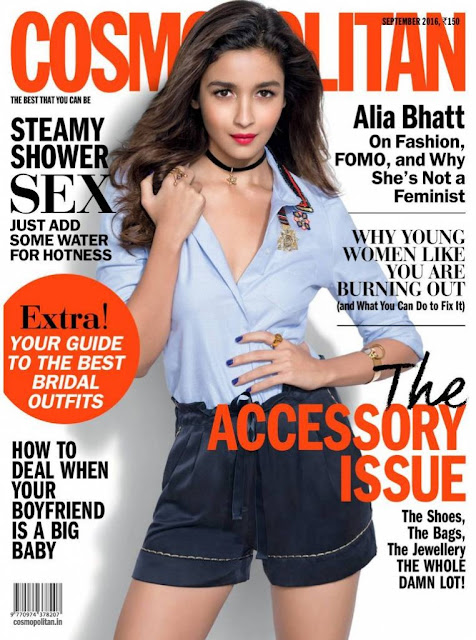 Gorgeous girl-next-door Alia Bhatt is Cosmopolitan's September cover girl