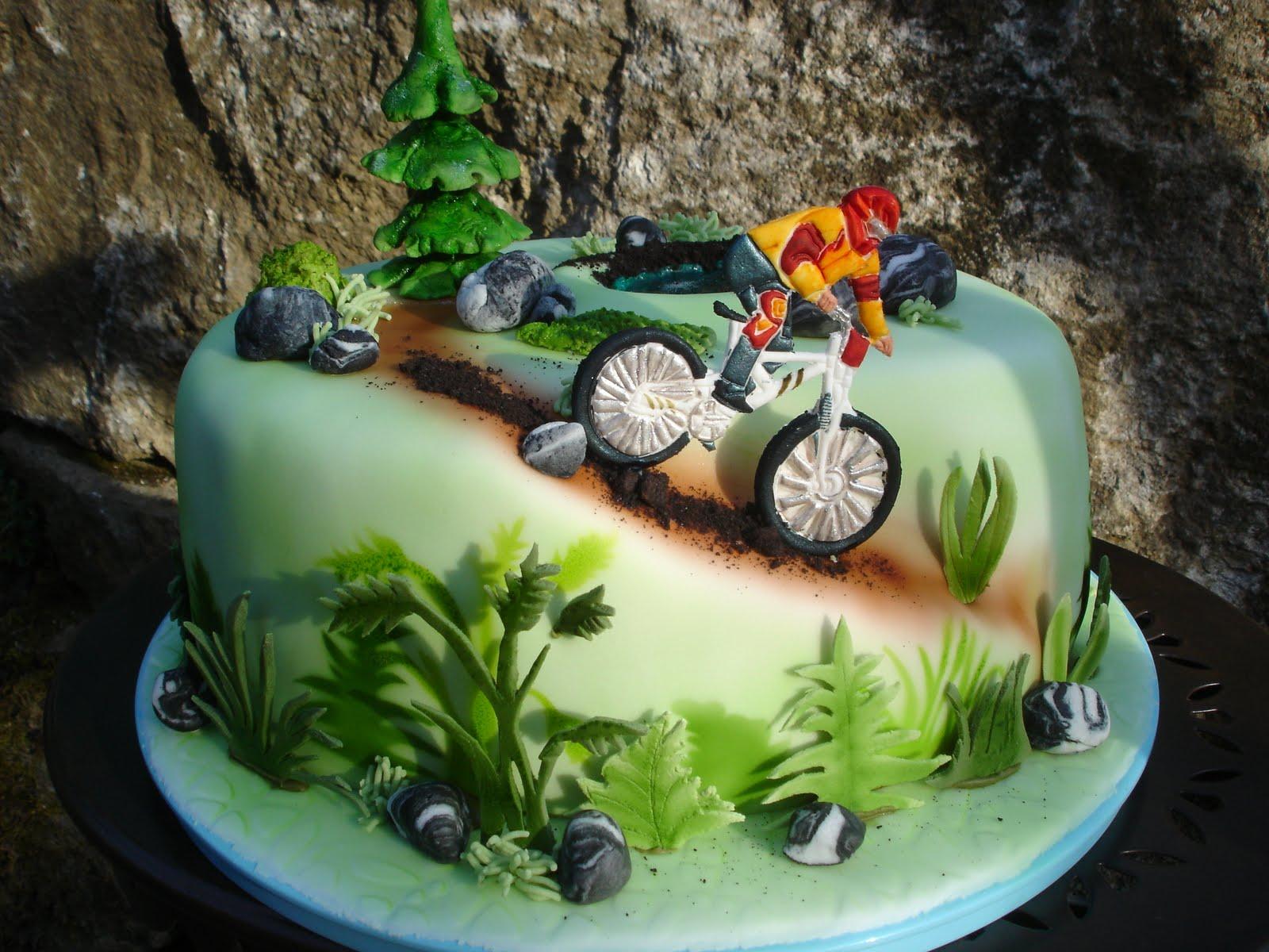 Mountainbiker zum Geburtstag  Brigittes Tortendesign