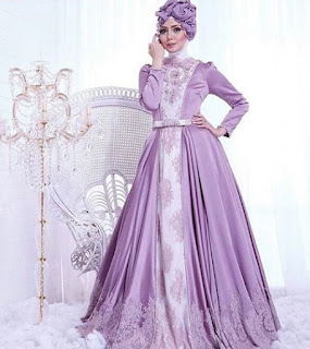 Baju pengantin muslimah trend model saat ini