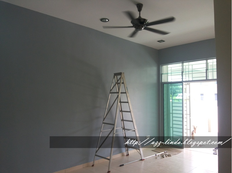 Ruang Tamu Pilihan Cat Smart Paint Warna Puritan Black Feature Wall Gray Cotton Grey Lembut Kod 421 4215p