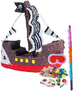 Pirate Ship Pinata Kit - Multi-colored