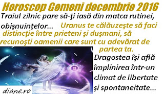 Horoscop Gemeni decembrie 2016