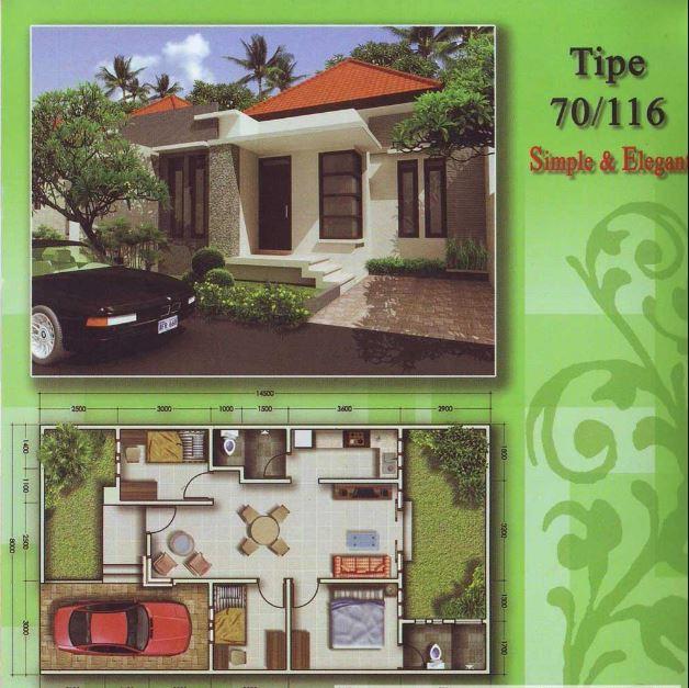 Denah Rumah Minimalis Idaman Sederhana Type 70