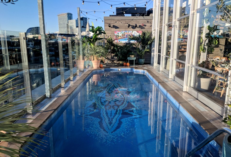 The Curtain Hotel Shoreditch rooftop swimming pool
