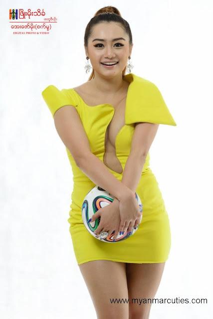 Thiri Shinn Thant is holding ball