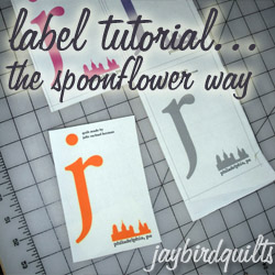 jaybird quilts label tutorial