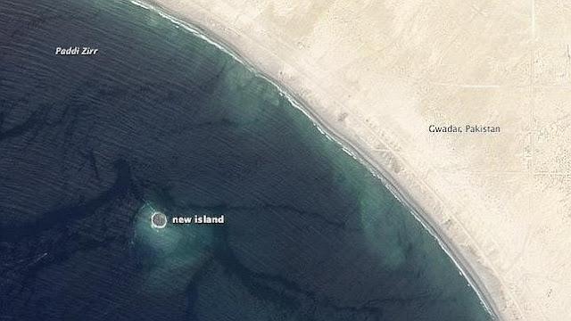 Pakistan nueva isla después de terremoto