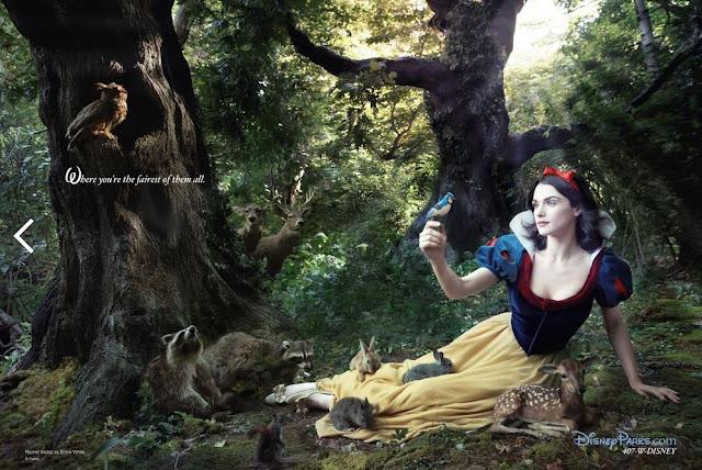 A atriz Rachel Weisz é Branca de Neve