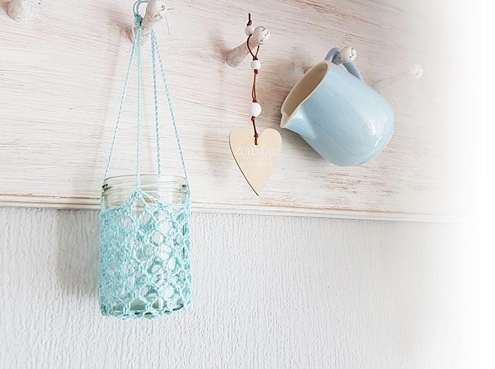 gehaekeltes Windlicht aus Marmeladenglas by DIY vonKarin