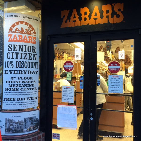 exit at Zabar's deli in NYC