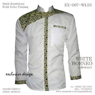 desain baju koko batik pria