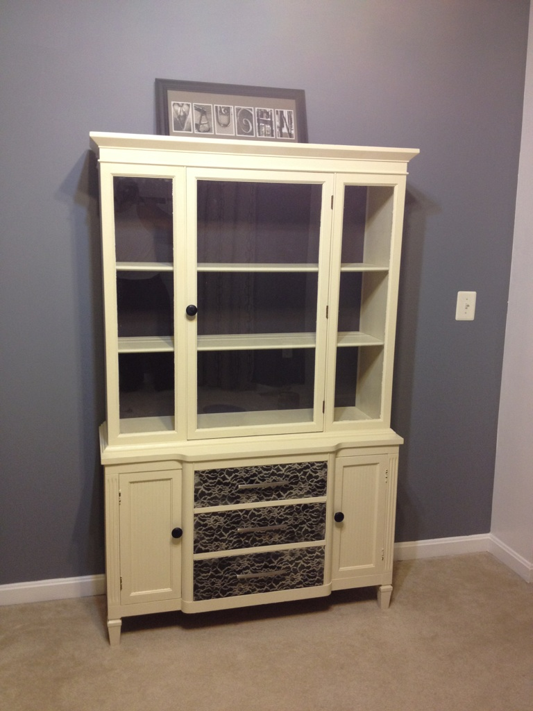 Our Pinteresting Family China Cabinet Project With Lace