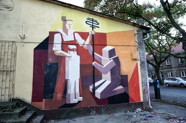 Several New Pieces From Polish Street Artist Jacyndol on the streets of Miechucino & Gdynia, Poland. 2