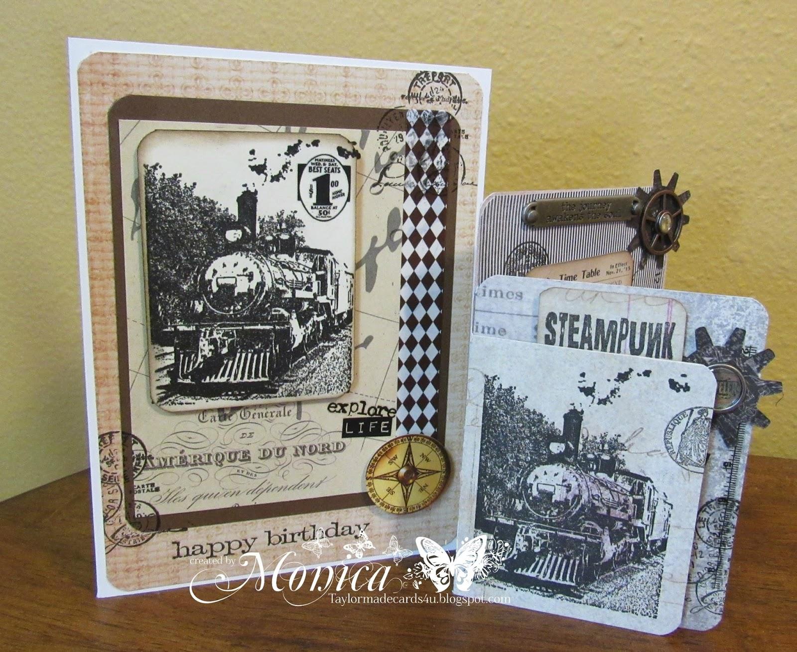 Steampunk and Passport cards – Steampunk Birthday Card