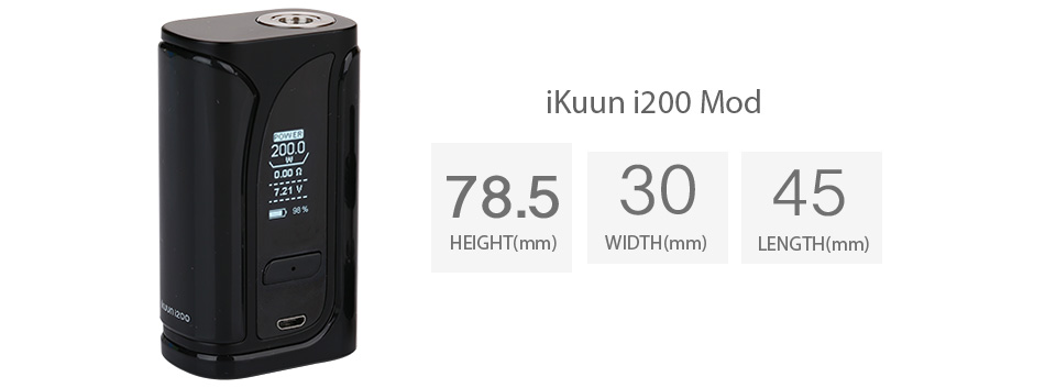 The User Manual for iKuun i200 Vape Mod