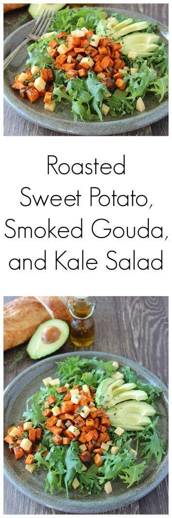 Roasted Sweet Potato, Smoked Gouda, and Kale Salad