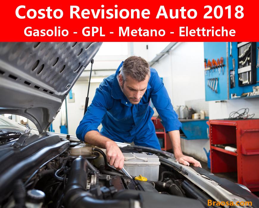 Quanto costa la revisione auto GPL Metano Elettrica 2018