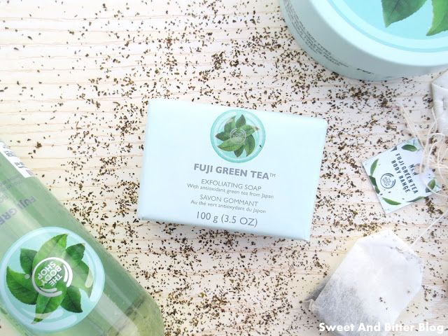 The Body Shop Fuji Green Tea Exfoliating Soap Review India