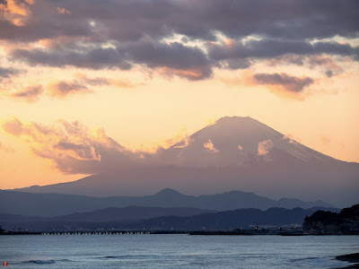Mt.Fuji as seen from Inamuragasaki point (Kamakura)