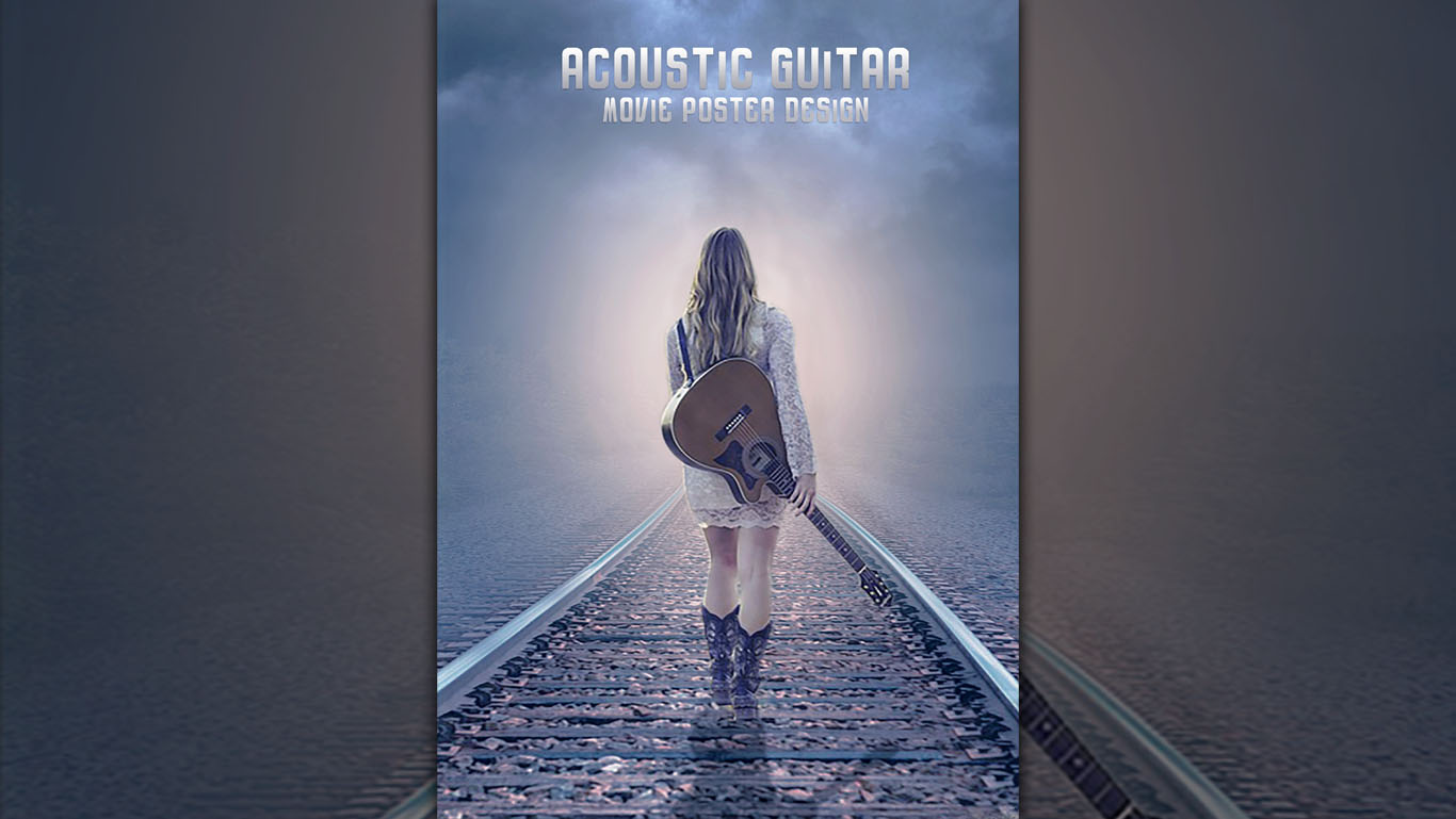 Create acoustic guitar movie poster photoshop tutorials baditri Gallery