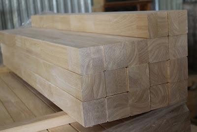 Thanh gỗ cao su ghép vuông