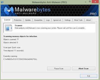 Malwarebytes 'Anti-Malware PRO 1.75.0.1300 - Phần mềm diệt viruts và các phần mềm độc hại trên PC