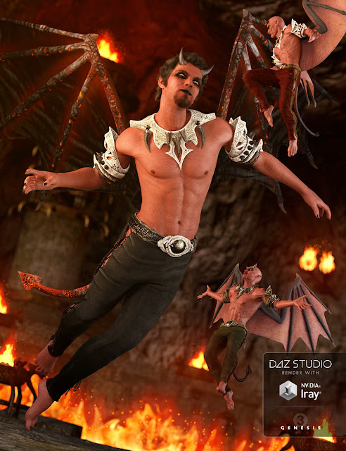 DAZ 3D - Daemon Outfit for Genesis 3 Male
