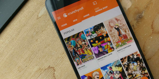 7 Aplikasi Terbaik untuk Menonton Anime di Android - 1.Crunchyroll