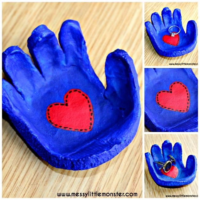 Salt Dough Handprint Bowl A Salt Dough Craft Idea Messy Little Monster