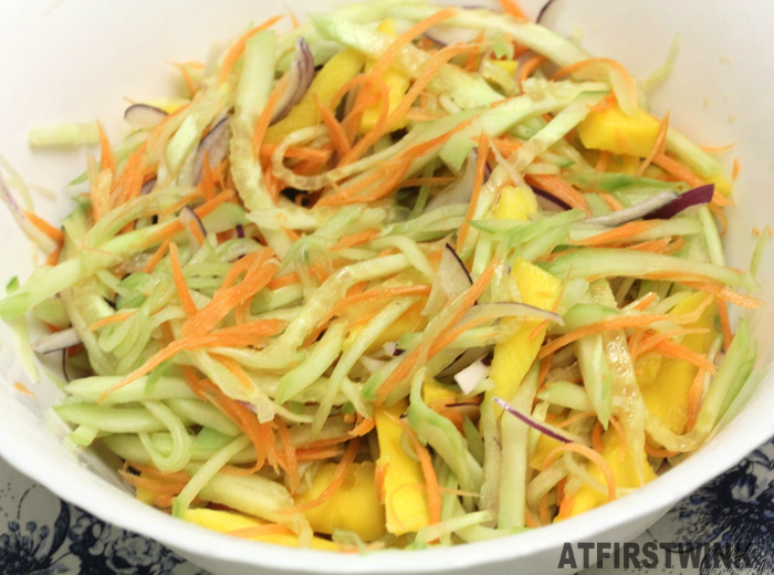 mango cucumber carrot salad